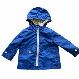 ZARA Baby Blue Windbreaker Jacket Hood 9-12 Months